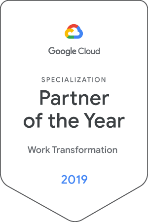 Google Cloud Partner Of The Year 2019 - Work Transformation